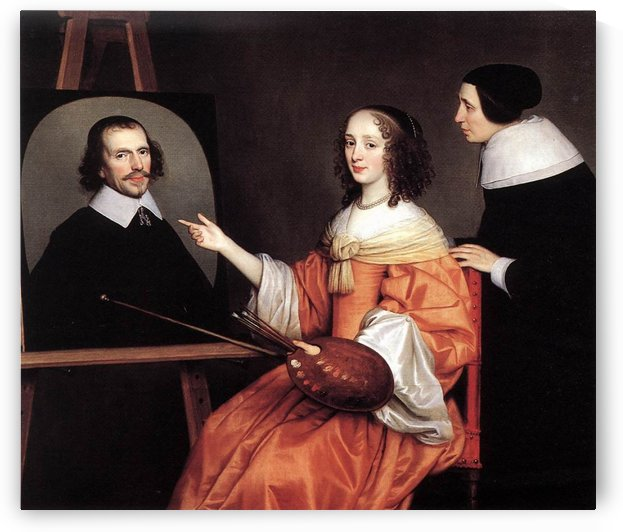 Margareta Maria de Roodere and Her Parents by Gerard van Honthorst