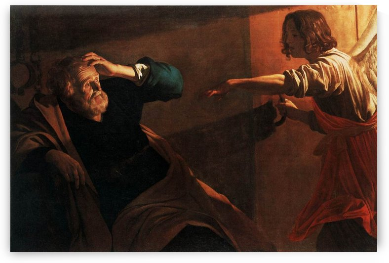Saint Peter being freed from prison by Gerard van Honthorst