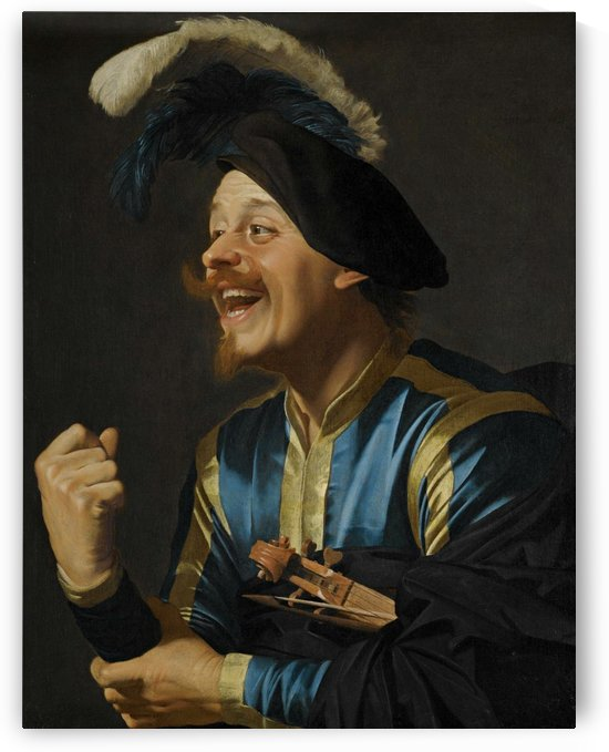 A laughing violinist by Gerard van Honthorst