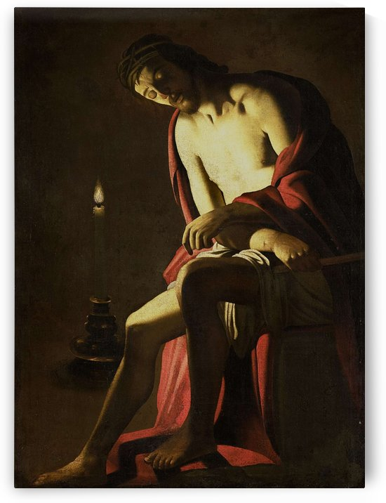Christ on the cold stone by Gerard van Honthorst