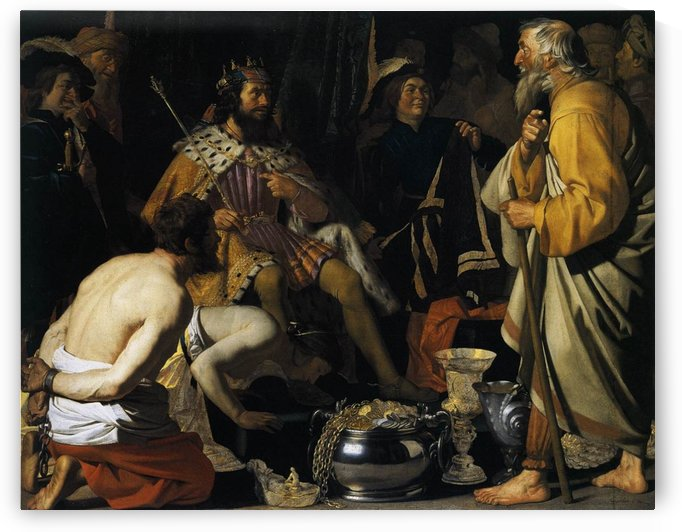 Solon and Croesus by Gerard van Honthorst