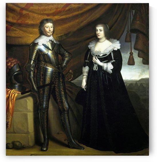 Double Portrait of Frederik Hendrik and Amalia van Solms by Gerard van Honthorst