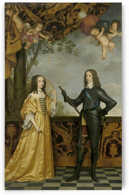 William II, Prince of Orange, and His Consort Maria Stuart by Gerard van Honthorst