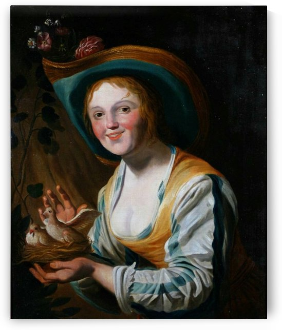 Shepherdess with doves by Gerard van Honthorst