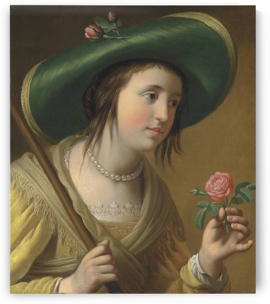 Portrait of Princess Elizabeth II van de Palts by Gerard van Honthorst