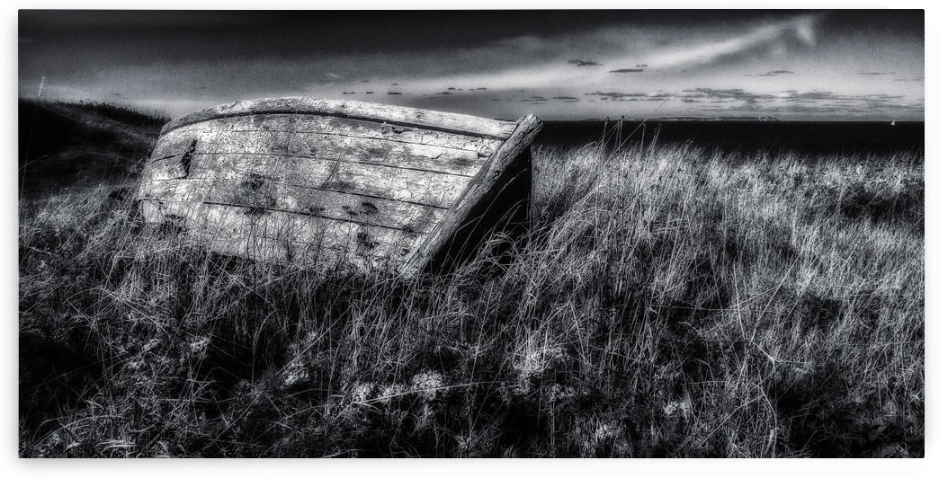 Abandonned Fishing Dory by Michel Nadeau