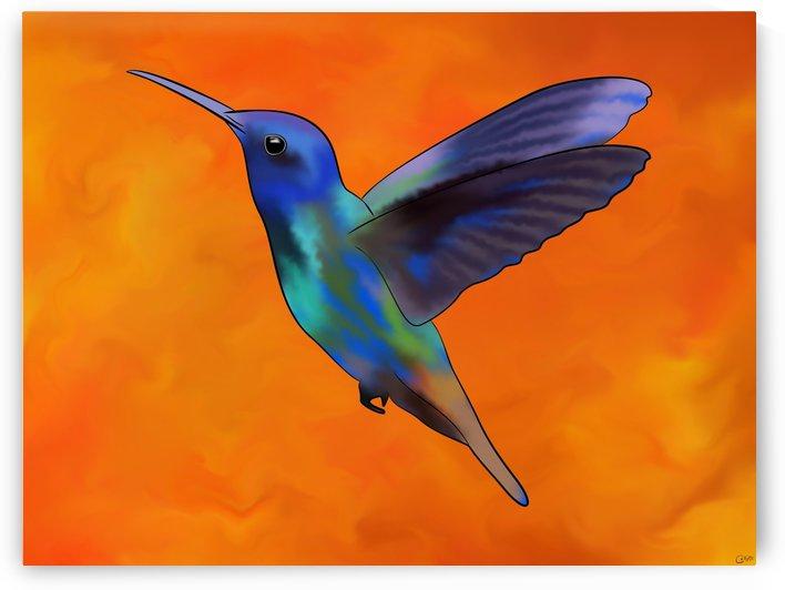 Figurieros V1 - colourful colibri by Cersatti Art