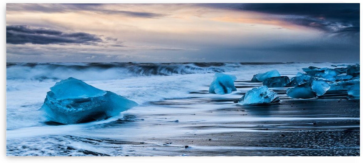 Ice Beach, Iceland by Keith Truman
