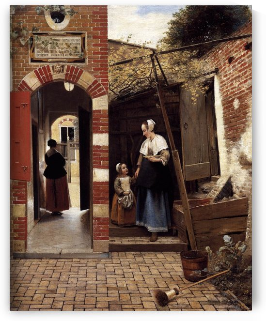 Courtyard of Dutch house by Pieter de Hooch