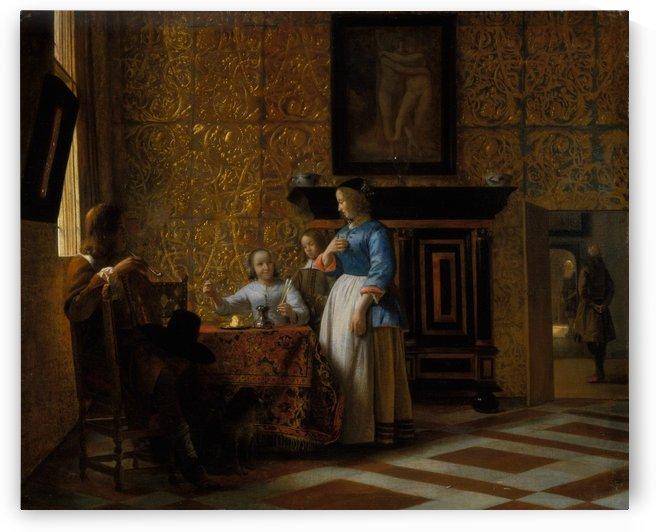 Interior with Figures by Pieter de Hooch