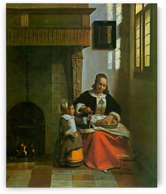 Woman peeling apples by Pieter de Hooch