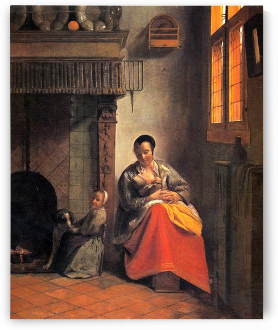 Nursing mother by Pieter de Hooch