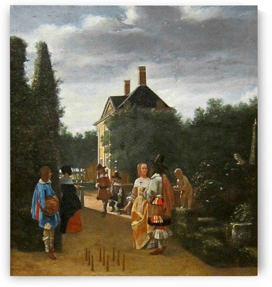 Game of Skittles by Pieter de Hooch