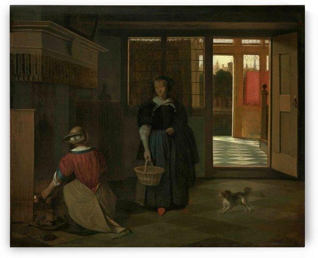 Interior of a Dutch house by Pieter de Hooch