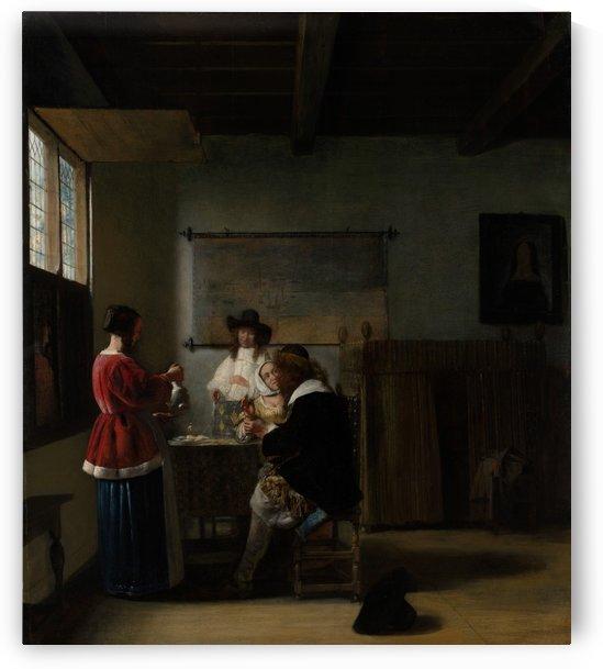 The visit by Pieter de Hooch