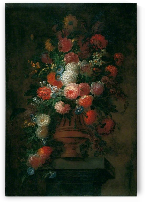 Summer flowers in bronze urn by Jean Baptiste Monnoyer