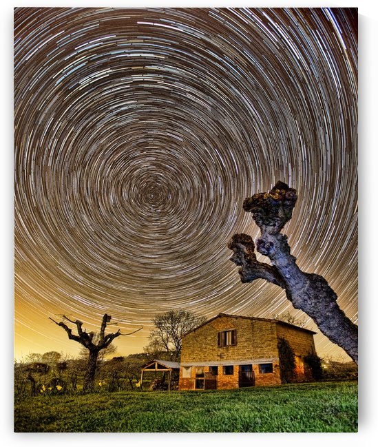 Tuscan Startrails by Keith Truman