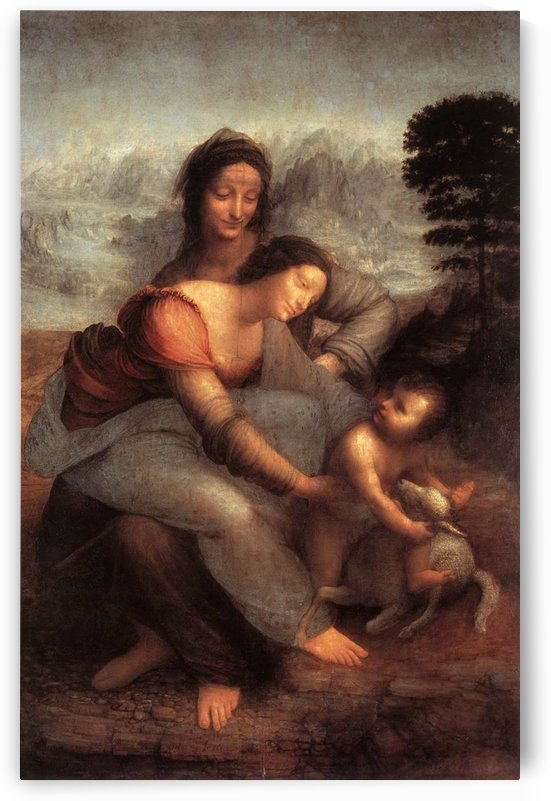 The Virgin and Child with Saint Anne by Leonardo da Vinci