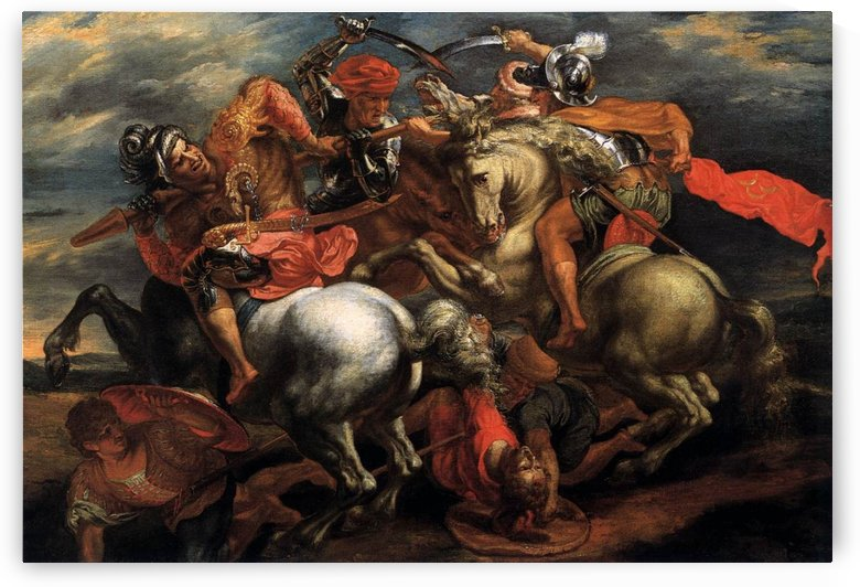 The Battle of Anghiari by Leonardo da Vinci