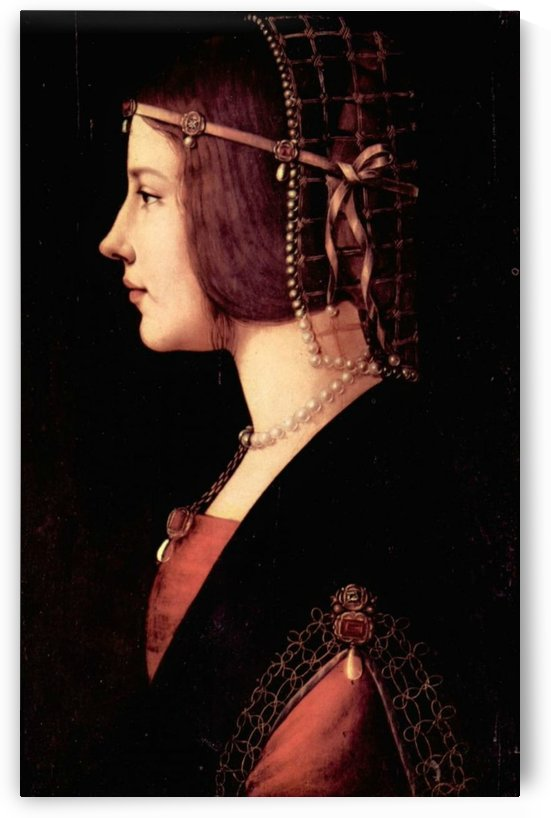 Portrait of a Lady Beatrice by Leonardo da Vinci
