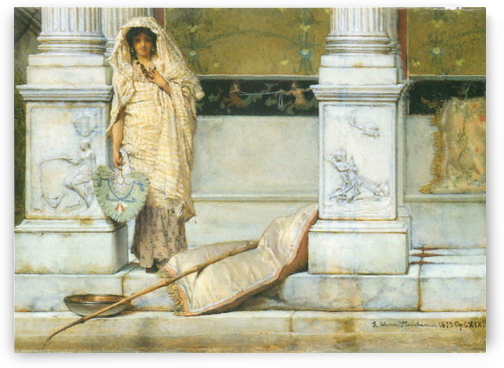 Fishing by Alma-Tadema by Alma-Tadema