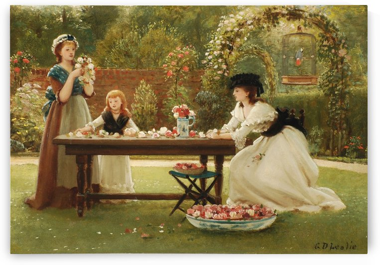 A feast of roses by George Dunlop Leslie