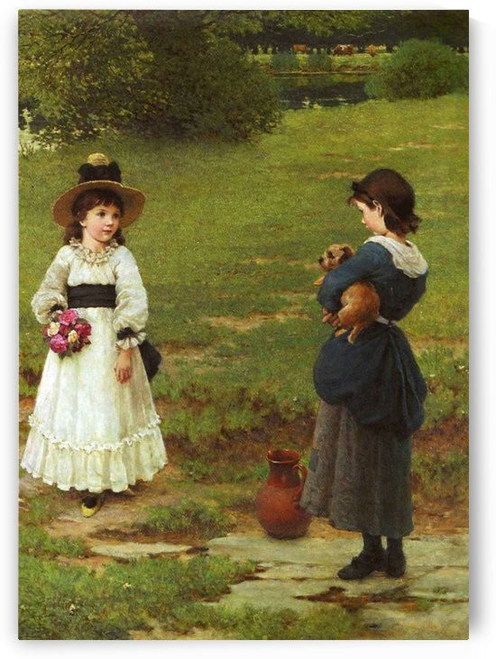 The Town and Country Mouse by George Dunlop Leslie