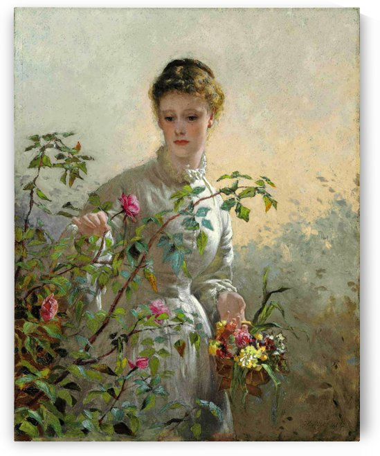 A Summer Bouquet by George Dunlop Leslie