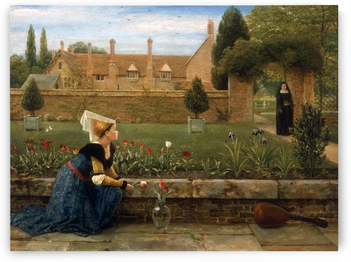 In the Convent Garden by George Dunlop Leslie