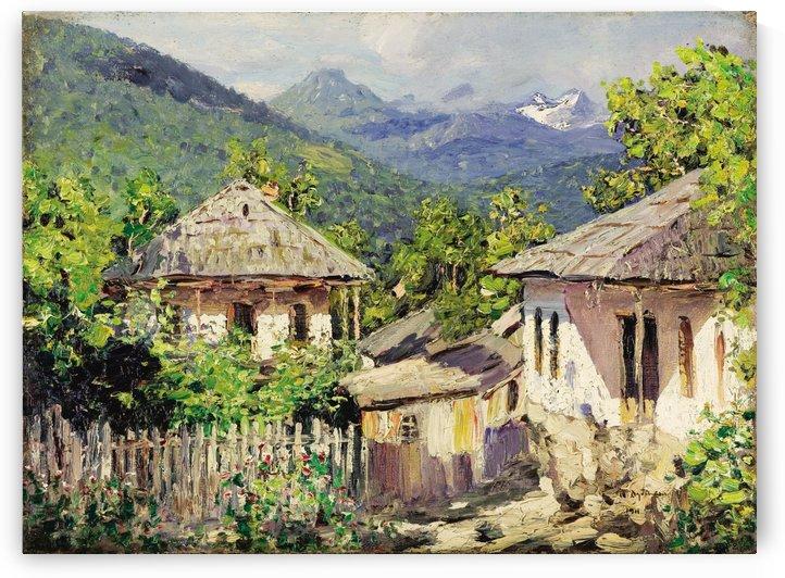 Village Scene by Nikolay Dubovskoy