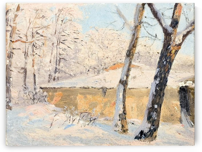 Derevya v snegu by Nikolay Dubovskoy