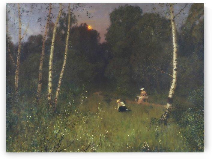 Twilight with figures by Nikolay Dubovskoy