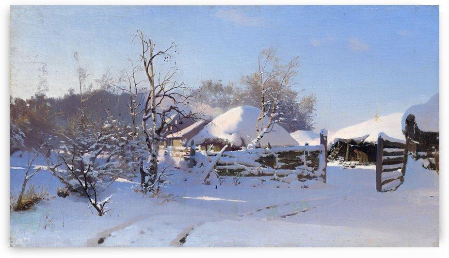 Winter Scene by Nikolay Dubovskoy