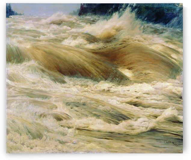 The Imatra Waterfall by Nikolay Dubovskoy