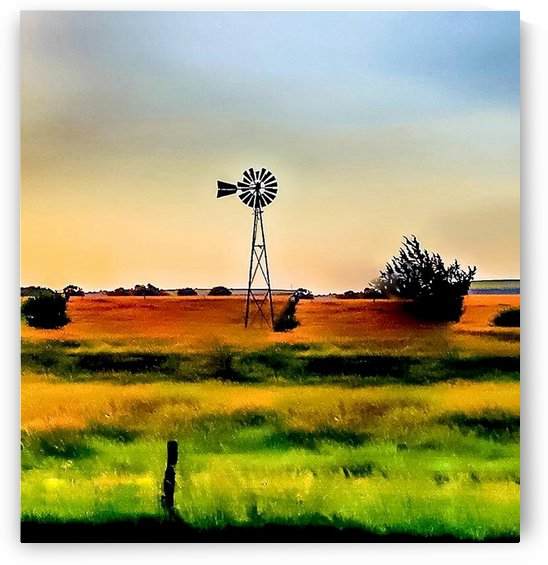 LONELY KANSAS WINDMILL by Marty Kugler