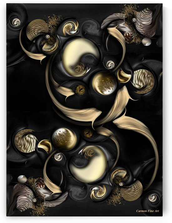 The Darkened Meditation by Carmen Fine Art