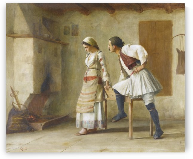 Flirting in the kitchen by Theodore Ralli