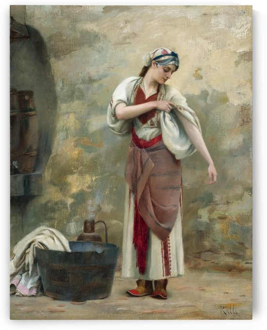 The Laundress by Theodore Ralli