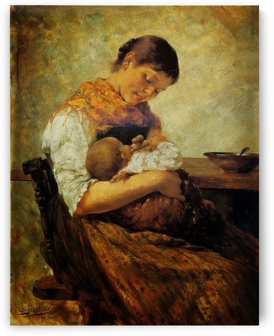 Motherly affection by Georgios Jakobides