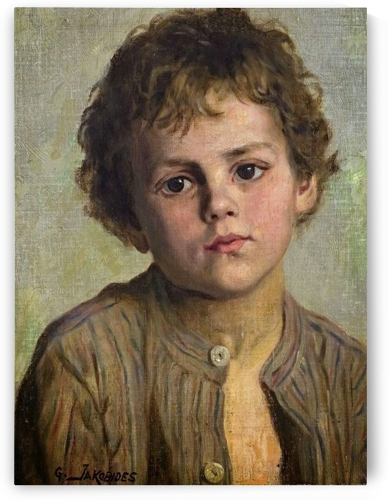 Portrait of a young boy by Georgios Jakobides
