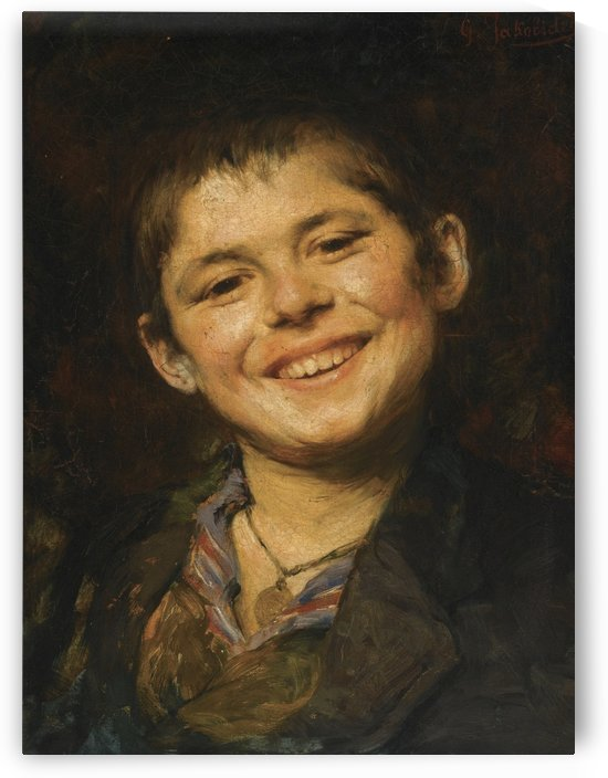 Laughing boy by Georgios Jakobides