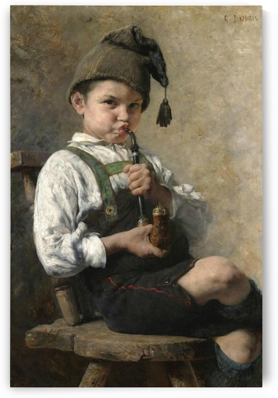 The smoker by Georgios Jakobides