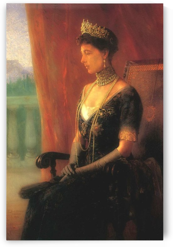 Portrait of Queen Sofia of Greece by Georgios Jakobides