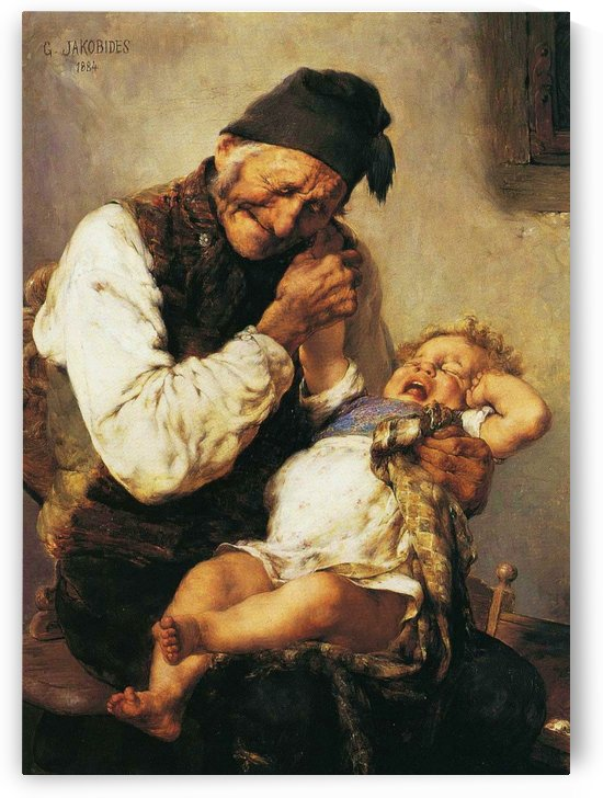 Grandfather and grandson by Georgios Jakobides
