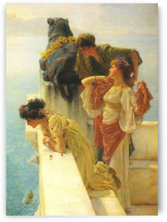 Good vantage point by Alma-Tadema by Alma-Tadema