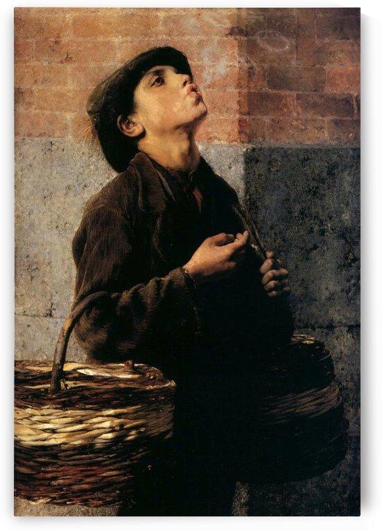 Boy doing smoking rings by Georgios Jakobides