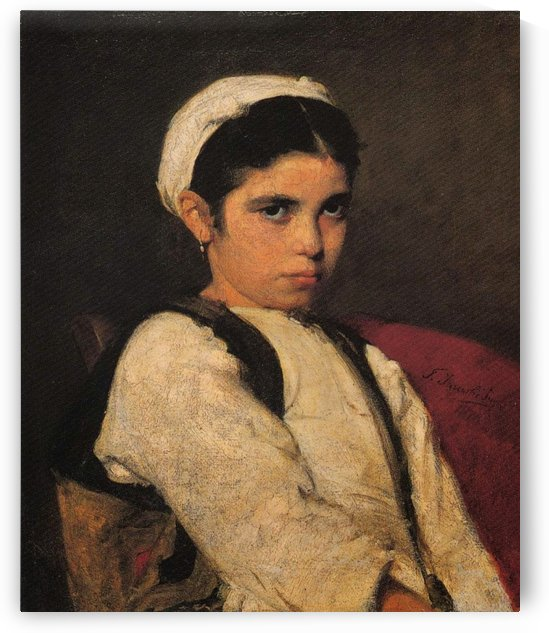 Girl from Megara by Georgios Jakobides