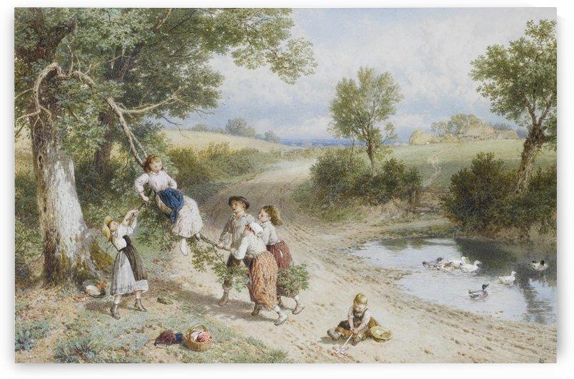 The Swing by Myles Birket Foster