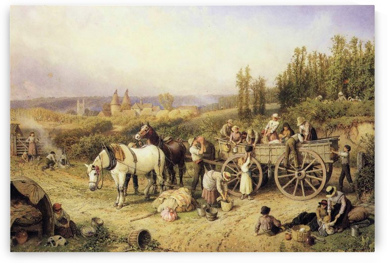 The Farm Cart by Myles Birket Foster