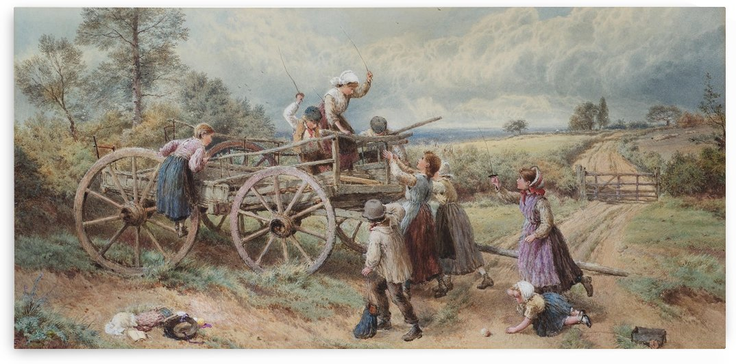 King of the castle by Myles Birket Foster
